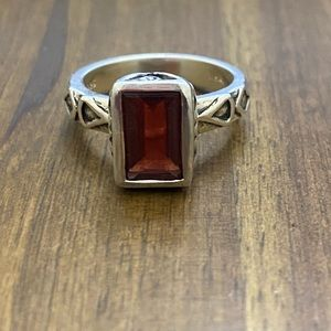 Silpada Sterling Silver Garnet Sunglow Ring